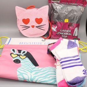Girls' Straw Cat Crossbody Bag -Read Below